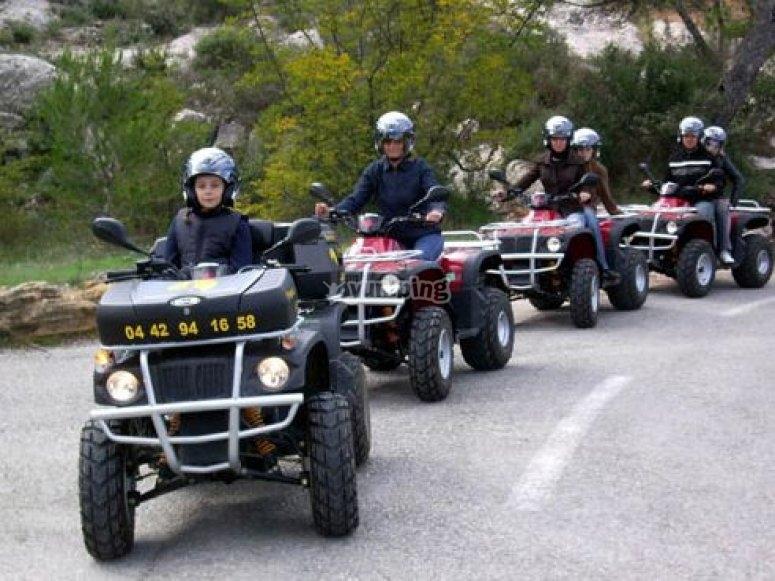 Vive le quad en Provence