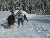 Faire du ski joering en famille