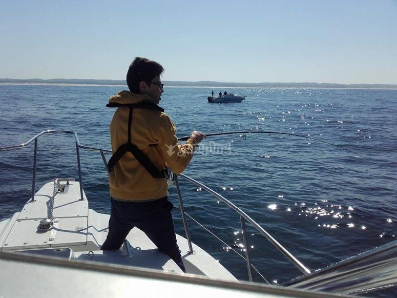 Pêche à bord de bateau