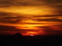 Randonnée au coucher de soleil