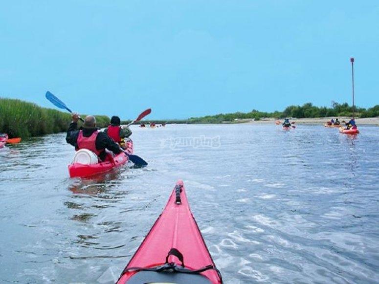 Kayak sur la Petite Amazone