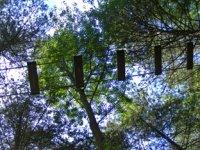 Parcours acrobatique en hauteur a Quend Plage