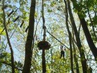 Parcours aventure en hauteur dans les arbres Seine et Marne