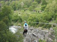 Tyrolienne au dessus de l Eyrieux