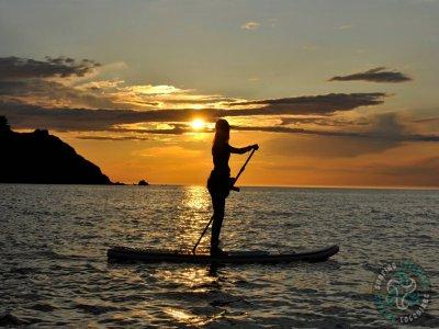Surfing Locquirec Paddle Surf