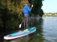 Paddle dans lieu paisible