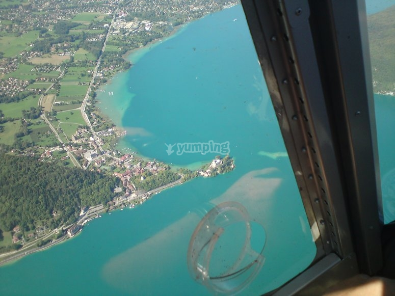 Le lac Leman vu du ciel