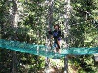 Parcours aventure et sortie en famille sur Megeve