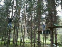 Parcours aventure dans les arbres Morzine