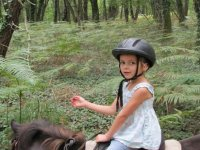 Parcours en foret a dos de poney