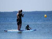 Paddle surf sur le lac de Cazaux