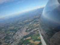 La terre vue du ciel depuis le planeur