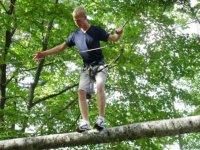 Parcours acrobatique en hauteur en Isere