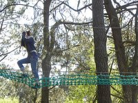 Accrochez vous et surmontez les obsacles dans les branches