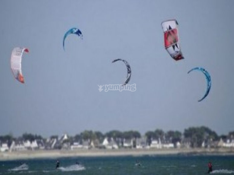 Kite surf en famille ou entre amis