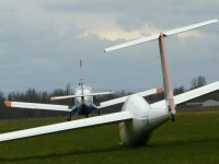 Planeur au decollage