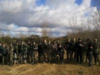 Groupe au paintball de Natura Game