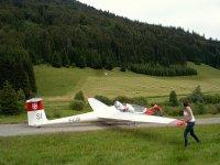 En avant pour le decollage planeur