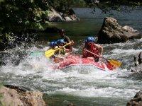 Rafting et obstacles naturels