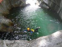 Plaisirs de l'eau au canyon du Tapoul