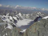 Le Glacier Blanc depuis le planeur