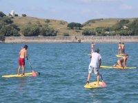 Sport aquatique sur la mer