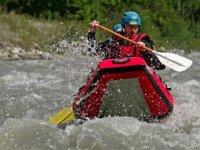Canoe raft sur le Cheran