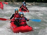 Canoe raft sur le Fier