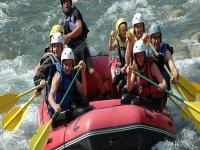 Rafting en famille  avec l Office des Sports de Montagne Rafting