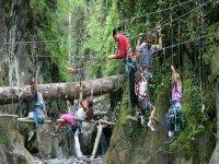 Sauter d arbre en arbre avec l Office des Sports de Montagne Parcours Aventure