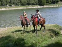 Bords de Mayenne a cheval