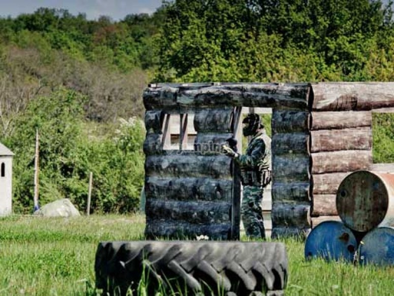 Les terrains de Demon Paintball