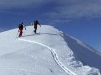 Ski de randonnee dans les Alpes