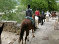 Sortie de Monclus a cheval