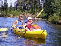 Canoe sur le lac de Pierre Percee