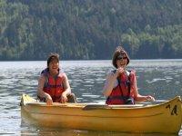 Moment de joie sur le Lac Pierre Percee
