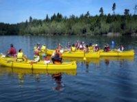 Sortie canoe en groupe