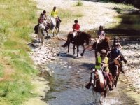 Traversee du ruisseau a cheval