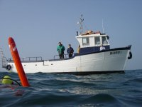 Le bateau du Club de Plongee Pottorua