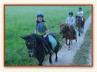 Sortie a cheval adaptee au cavalier