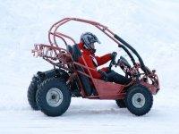 Initiation conduite de buggy sur circuit de glace