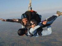 chute libre dans les Alpes