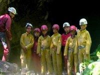 Speleologie groupe enfants