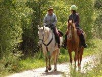 Sortie a cheval pres de Castelnau Chalosse
