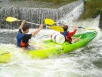 canoe dans le tourbillon
