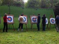 Fin de la session de tir a l arc