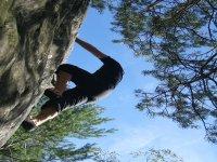 Escalade sur les rochers de Fontainebleau