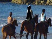 Simple balade a cheval sur la plage