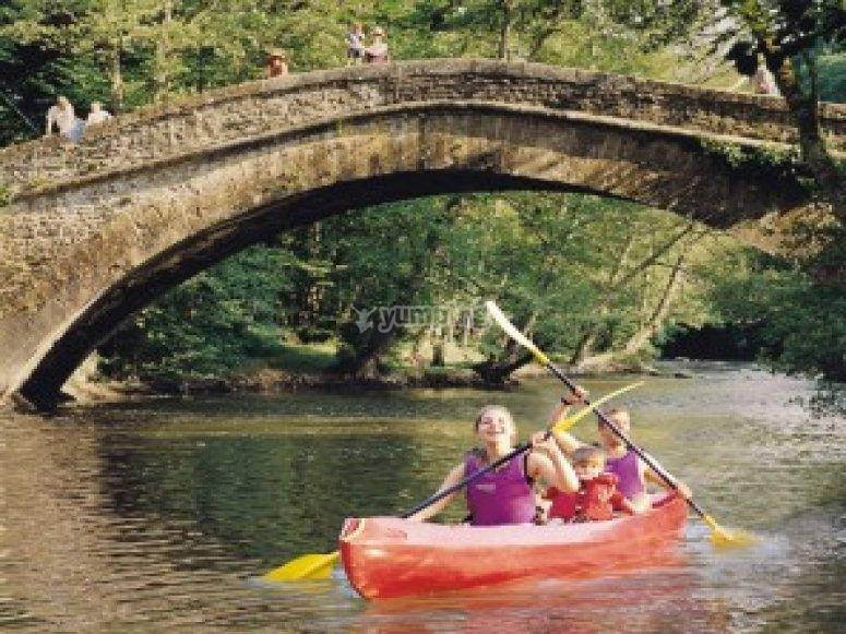 Sortie canoe en famille