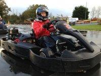 Avant le depart de la course de karts